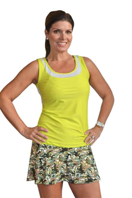 BPassionit-Model-in-GI-Girl-Print-Tennis-Skirt-and-Chartreuse-Vented-Tank-2-web