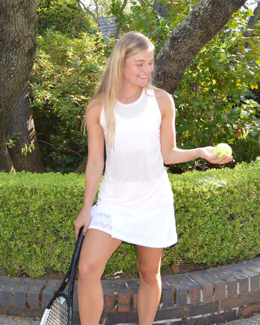 BPassionit-Model-in-White-Seismic-Lace-Wrap-Skirt-Racerback-Tee