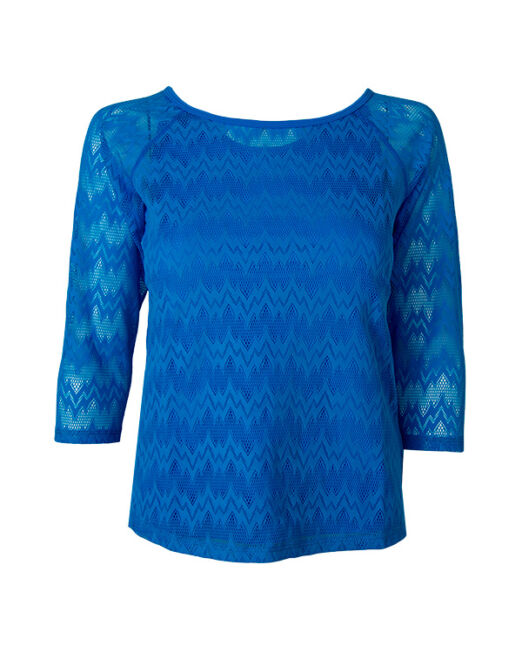 BPassionit-Womens-3-4-Sleeve-Top-Turquoise-with-Seismic-Lace-WEB