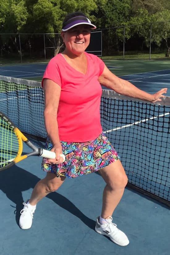 Crystal Gordon in BPassionit Tennis and Activewear