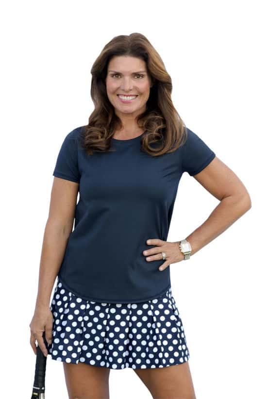 BPassionit-Model-in-Navy-White-Polka-Dot-Tennis-Skirt-WEB