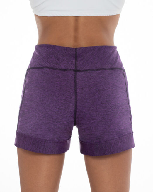 BPassionit-Shorts-with-Pockets-Cuff-Purple-Heather-Back