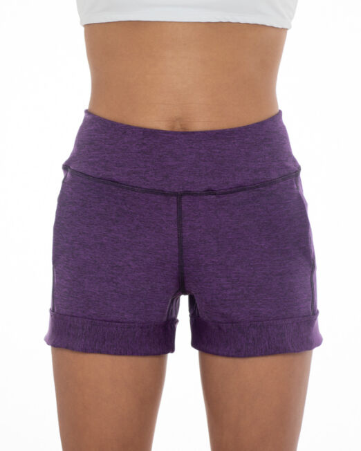 BPassionit-Shorts-with-Pockets-Cuff-Purple-Heather